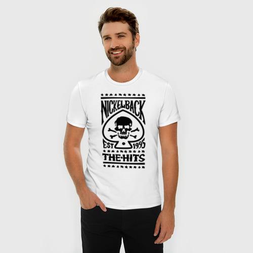Мужская футболка премиум  Фото 03, Nickelback hits