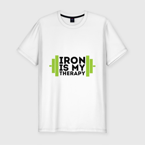 Мужская футболка премиум  Фото 01, Железо-это моя терапия