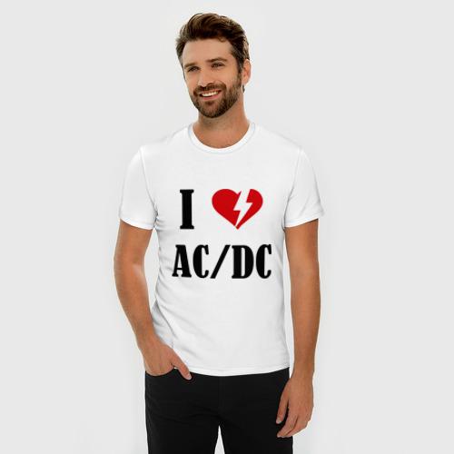 Мужская футболка премиум  Фото 03, I Love AC DC