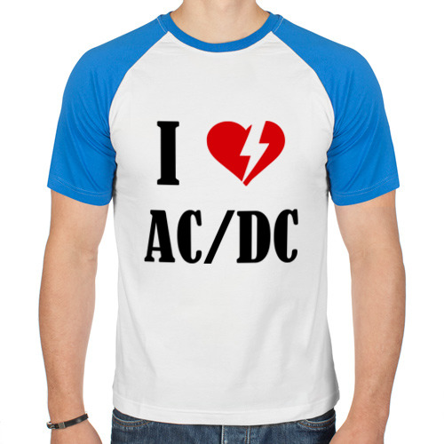Мужская футболка реглан  Фото 01, I Love AC DC