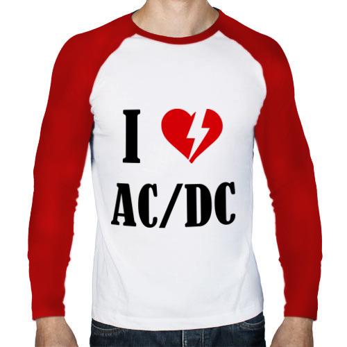Мужской лонгслив реглан  Фото 01, I Love AC DC