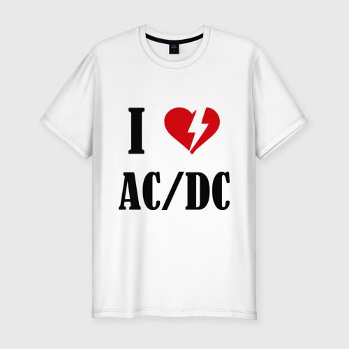 Мужская футболка премиум  Фото 01, I Love AC DC