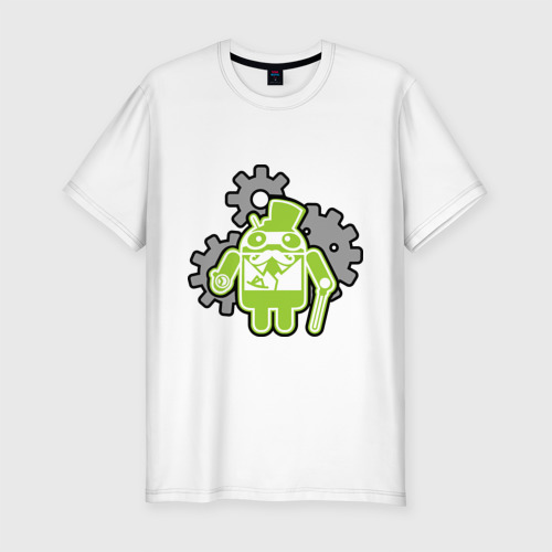 Мужская футболка премиум  Фото 01, андройд джельтельмен