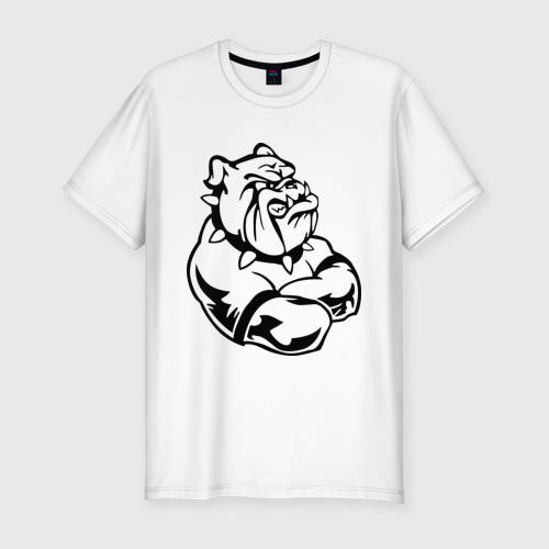 Мужская футболка премиум  Фото 01, Бульдог