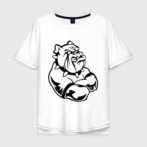 Мужская футболка хлопок Oversize Бульдог Фото 01