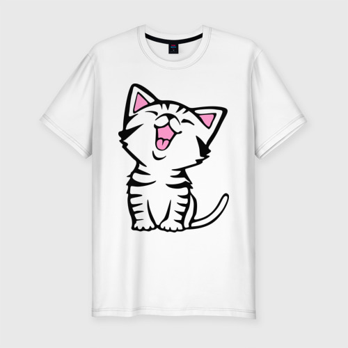 Мужская футболка премиум  Фото 01, милый котенок