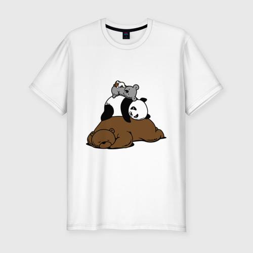 Мужская футболка премиум  Фото 01, comfort bed - комфортный медведь
