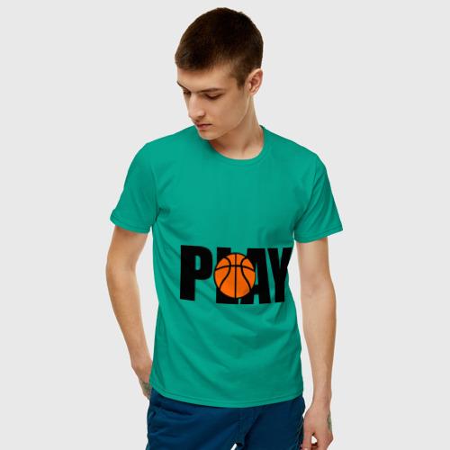 Мужская футболка хлопок  Фото 03, Играй в баскетбол