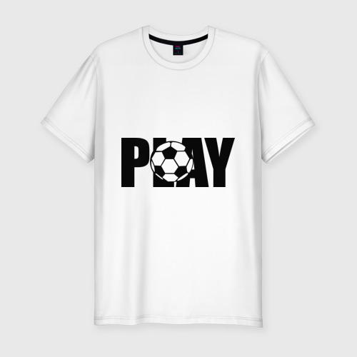 Мужская футболка премиум  Фото 01, Играть в футбол