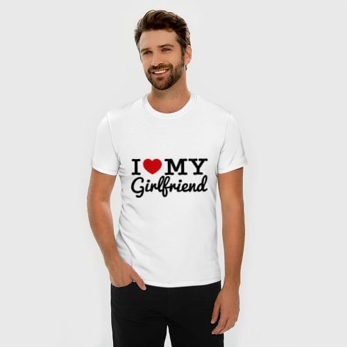 Мужская футболка премиум  Фото 03, I love my girlfriend