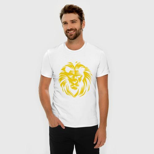 Мужская футболка премиум  Фото 03, Лев царь зверей