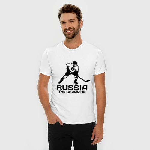 Мужская футболка премиум  Фото 03, Россия Чемпион