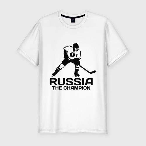 Мужская футболка премиум  Фото 01, Россия Чемпион