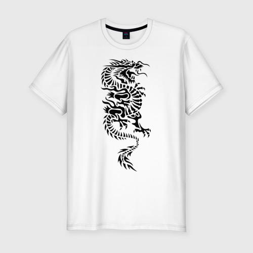 Мужская футболка премиум  Фото 01, Японский дракон
