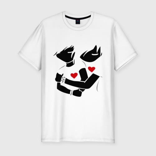 Мужская футболка премиум  Фото 01, Эмо любовь