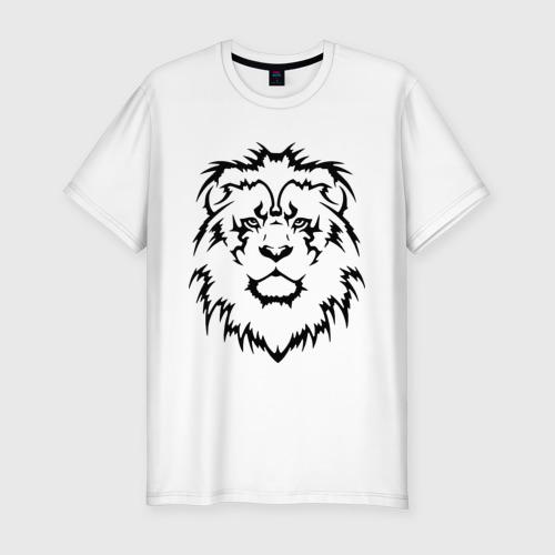 Мужская футболка премиум  Фото 01, Лев - Взгляд