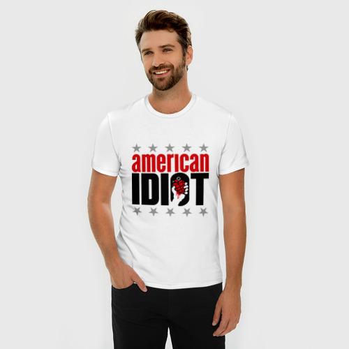 Мужская футболка премиум  Фото 03, Green day. American idiot