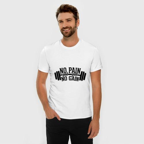 Мужская футболка премиум  Фото 03, No pain no gain