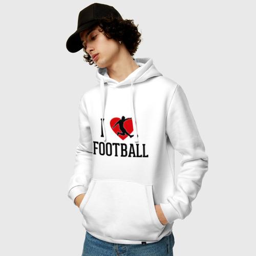 Мужская толстовка хлопок  Фото 03, Я люблю футбол