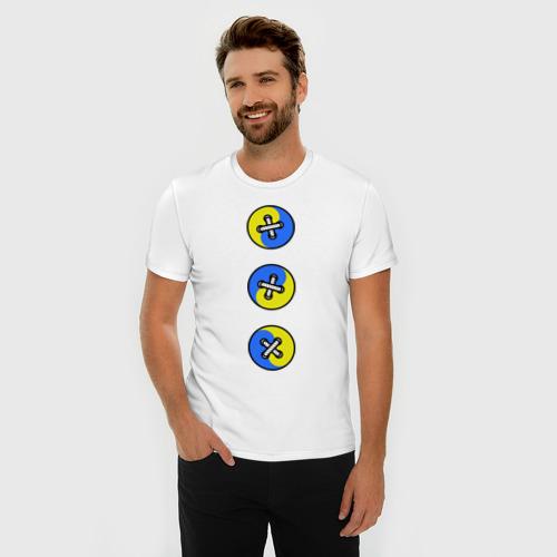 Мужская футболка премиум  Фото 03, Пуговицы инь-янь