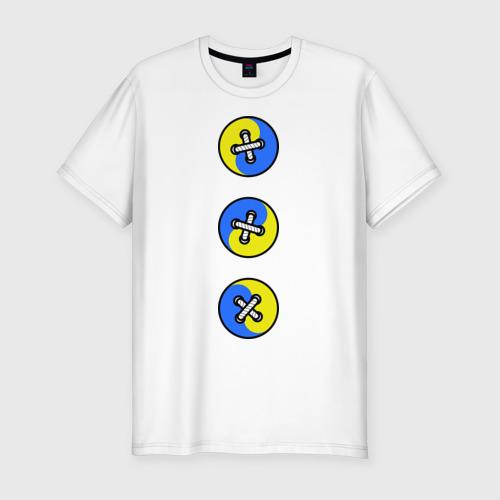 Мужская футболка премиум  Фото 01, Пуговицы инь-янь