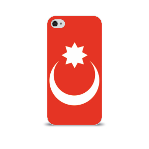 Чехол для Apple iPhone 4/4S soft-touch 'Полумесяц со звездой'