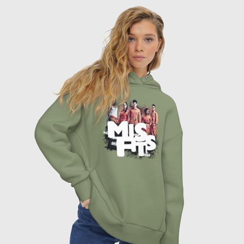 Женское худи Oversize хлопок MisFits Фото 01