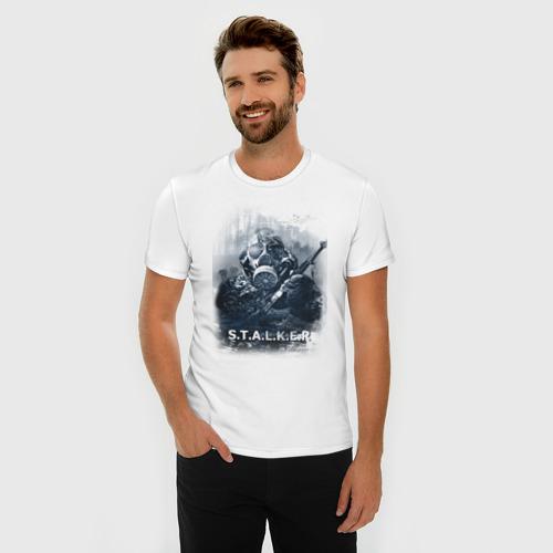 Мужская футболка премиум  Фото 03, STALKER