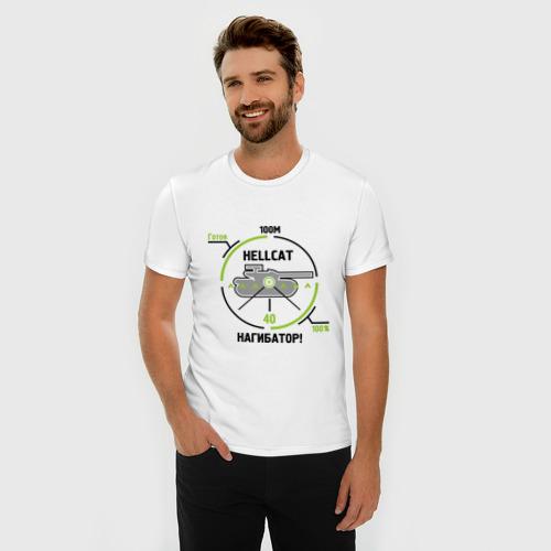 Мужская футболка премиум  Фото 03, Танки. Hellcat Нагибатор