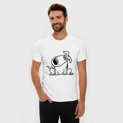 Мужская футболка премиум  Фото 03, Смешная собака