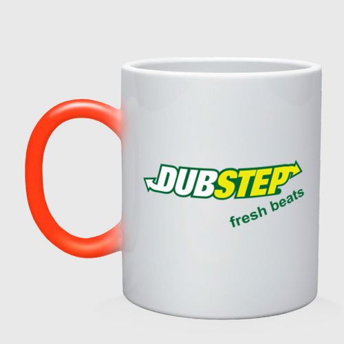 Кружка хамелеон  Фото 01, Dubstep - fresh beats