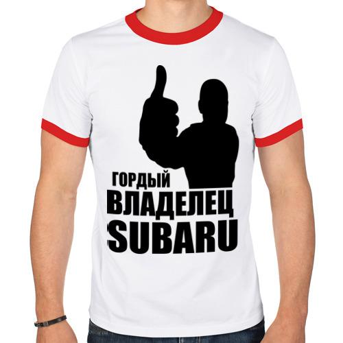Мужская футболка рингер  Фото 01, Гордый владелец Subaru