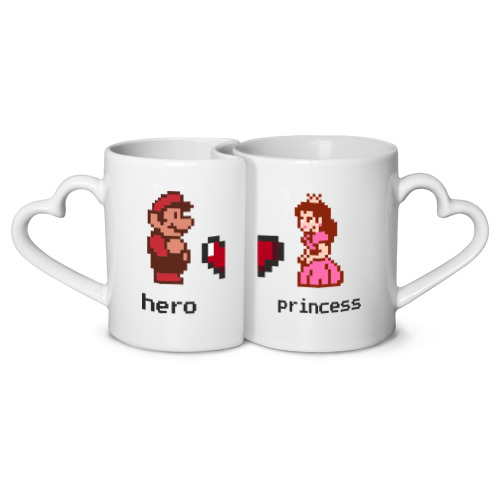Кружки парные Герой и принцесса