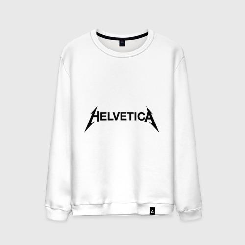 Мужской свитшот хлопок  Фото 01, Helvetica Metallica