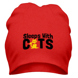 Sleeps with cats