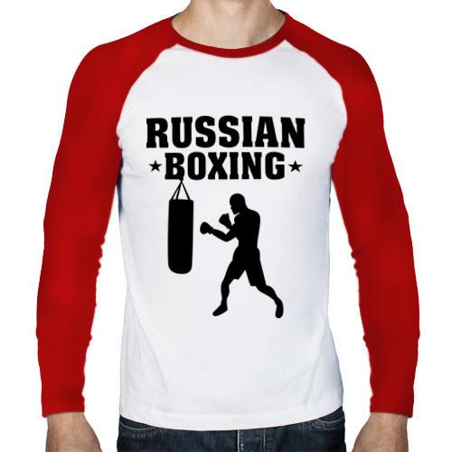 Мужской лонгслив реглан  Фото 01, Russian Boxing (Русский бокс)
