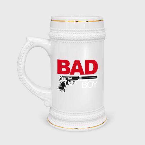 Кружка пивная Bad boy (плохой парень)