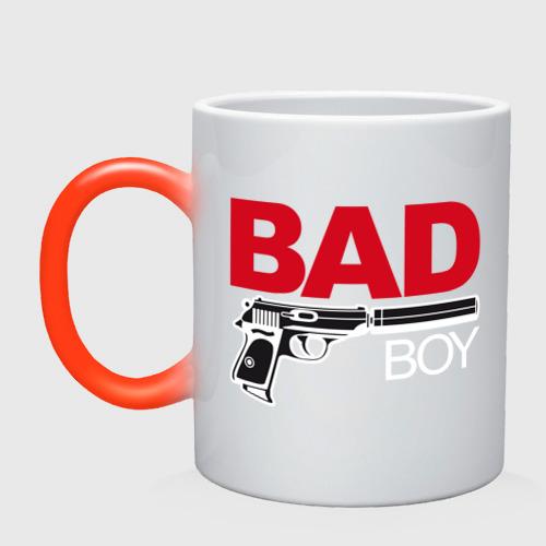 Кружка хамелеон Bad boy (плохой парень)
