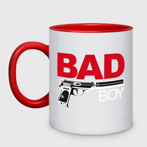 Кружка двухцветная Bad boy (плохой парень)