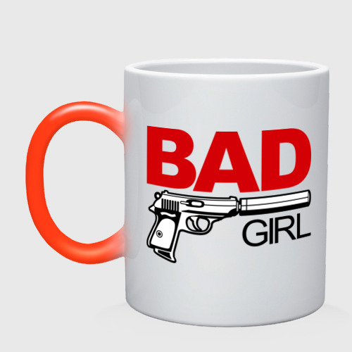 Кружка хамелеон Bad girl (плохая девушка)