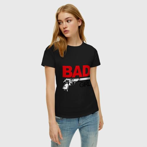 Женская футболка хлопок Bad girl (плохая девушка) Фото 01