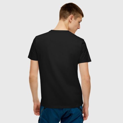Мужская футболка хлопок человечки с цветком парная муж Фото 01