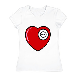 сердце вилка и розетка жен - интернет магазин Futbolkaa.ru