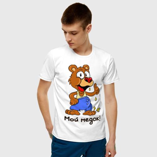 Мужская футболка хлопок Мой медок Фото 01