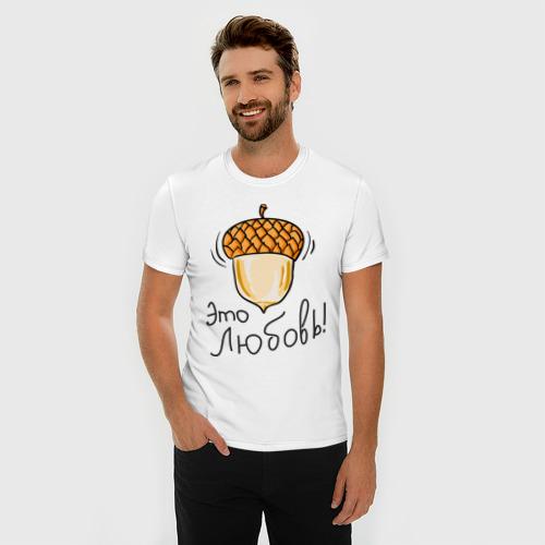 Мужская футболка премиум  Фото 03, Орех