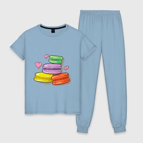 Женская пижама хлопок Макароне Фото 01