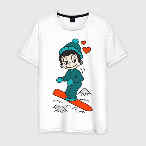 Мужская футболка хлопок Love is snowboarding