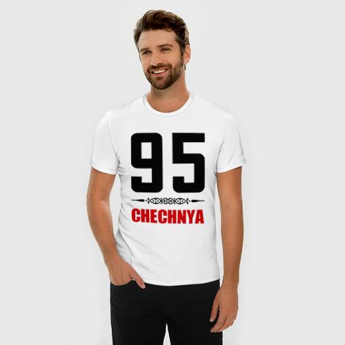 Мужская футболка премиум  Фото 03, 95 Чечня