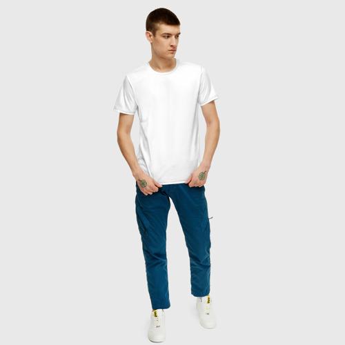 Мужская футболка хлопок Креативный узор на пояснице Фото 01