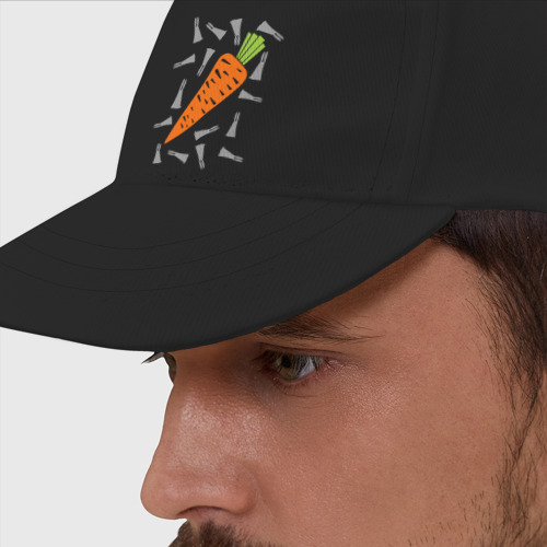 Бейсболка морковка и кролик парная